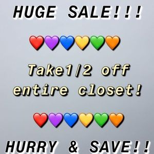 Take 1/2 off entire closet! Send offer & done!